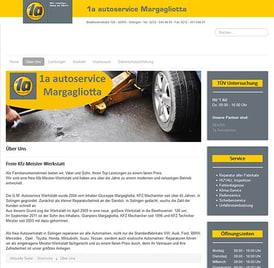 Webseite 1a autoservice erstellt von SEO GRECO