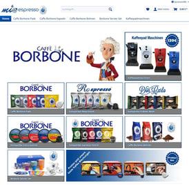 Online Shop Mioespresso erstellt von SEO GRECO