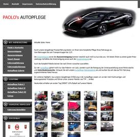 Webseite Paolo's autopflege erstellt von SEO GRECO